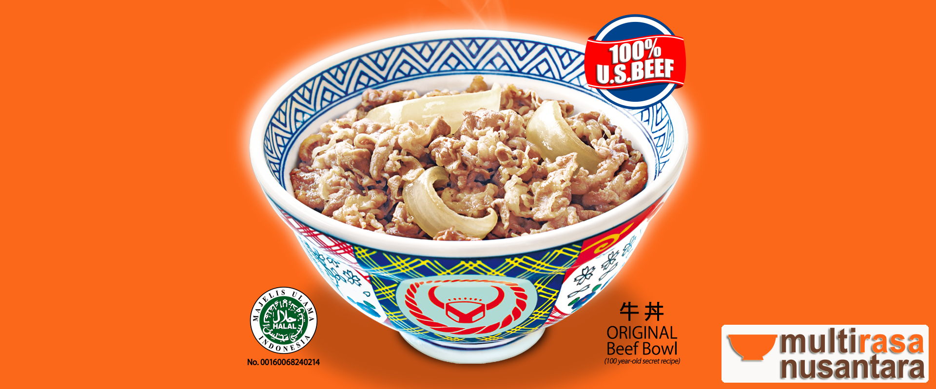 Japan´s No. 1 Beef Bowl since 1899, Tokyo - Japan, Now in Indonesia.
